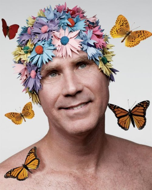 Will-Ferrell-In-Flower-Shower-Cap