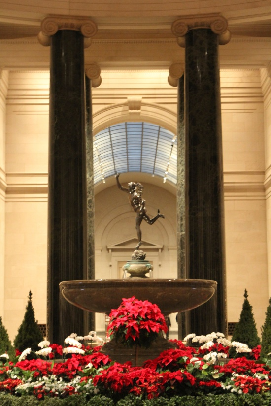 The National Gallery was filled with flowers for the holiday season.