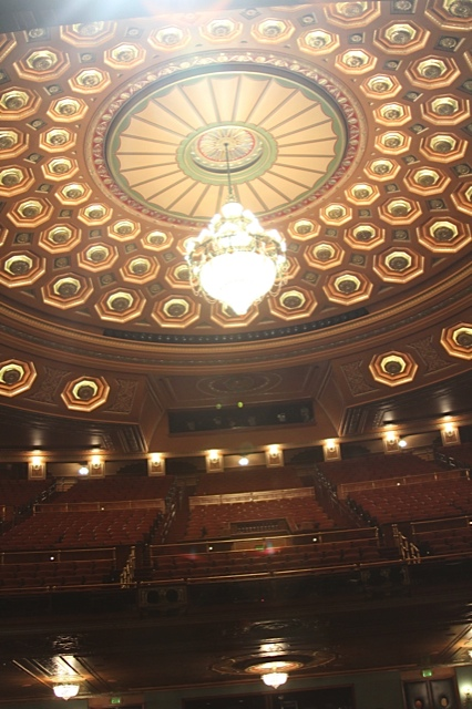 The Benedum Center in Pittsburgh where Les Mis played.  Beautiful right?